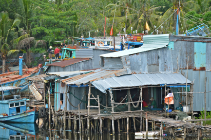 Fisherfolk's homes.....
