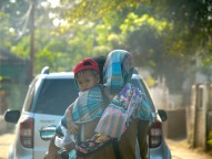 Beautiful Lombok baby on a bike...