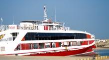 The car ferry for Dalma...