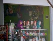 Colourful hijabs..
