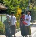 Boys in traditional garb...