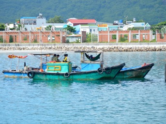 Fishing boats, check out the hammock...