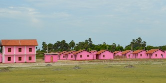 Very pink post war re-settlement village...