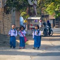 Walking home from school....