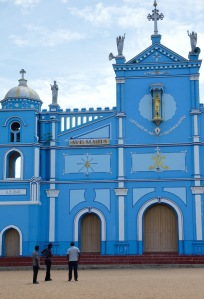 Blue church...