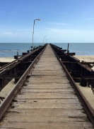 the abandoned ferry jetty to India...Mannar island, Sri Lanka...