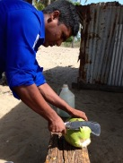 Fresh coconut drink for me...