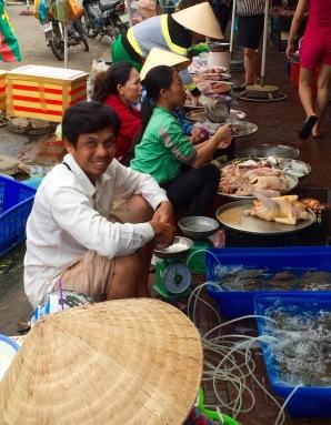 Market traders...