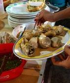 Phalium Glaucum, barbecued with garlic sauce...