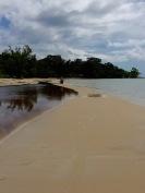 Success, forging along the beach...