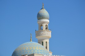 Turquoise mosque top, Hilf, February 2015...