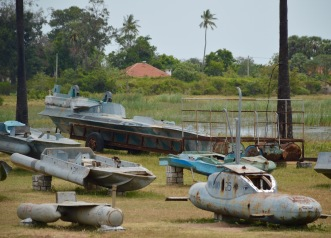 Relics of Navy ships and subs used in the war...
