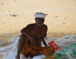 Old fisherman resting in the shade...