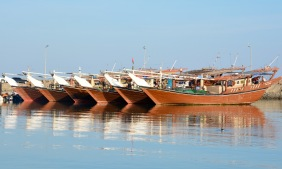 Dhows at Hilf port, December 2015...