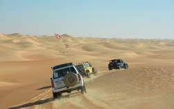 Sideways round the dune...