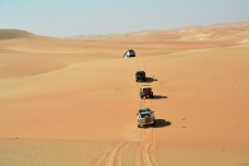 Up and over...Off roading in the Western Region...UAE