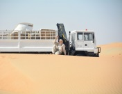 This gent and his lorry were just in the middle of the desert, no roads, near to no-where.. just chilling really...