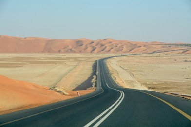 Crossing the sabkha valleys...