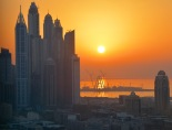 Back home, sunset over Dubai Marina....