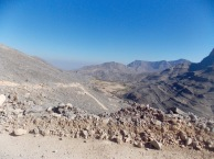 The view and track (road) back to Khasab...