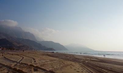 Beach before the border back to UAE...