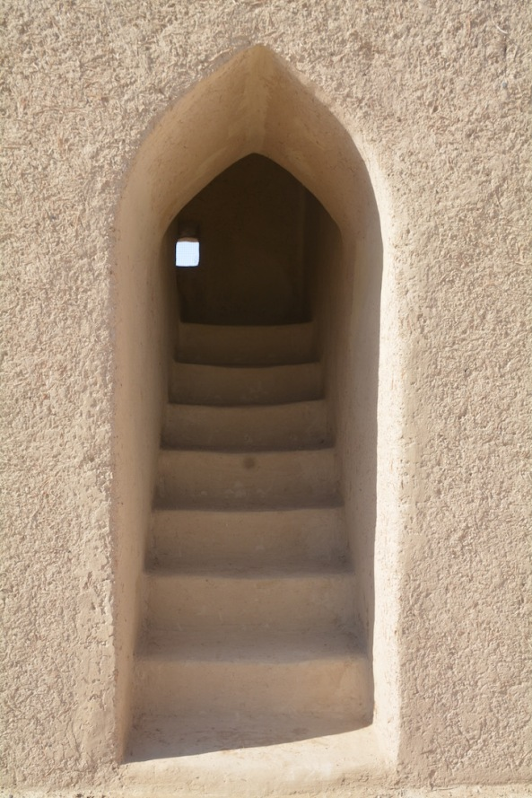 A little window of light at the top of the stairs... Siyja fort, Abu Dhabi region, UAE.
