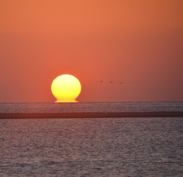 Sunrise in Ash Sharqiyah Region, Oman.
