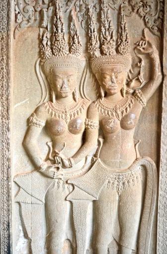 Carving, Angkor Wat, Cambodia