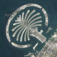 Pacing the Palm Jumeirah....
