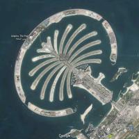 Pacing the Palm Jumeirah....