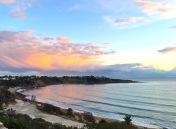 Pink skies at Coral Bay...