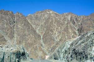 Impenetrable wadi mountainsides...
