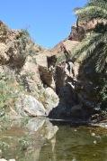 Wadi pools at Chees...