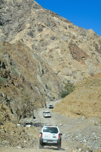 Heading out of the wadi...