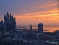 A pink sunset over Dubai Marina...
