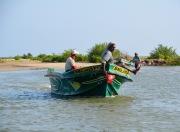 Fishermen bringing the catch home...