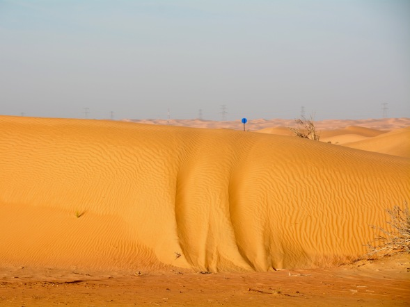 Sand gouges...desert colour, shade in the tracks gives a focus...