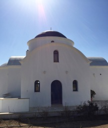 Such a defined shape to this church...