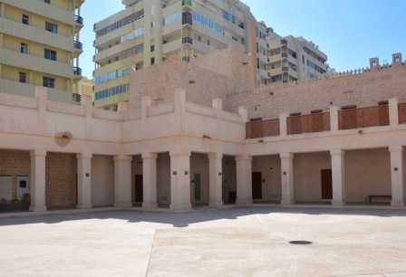 The central courtyard, now dwarfed by the surrounding apartment blocks...