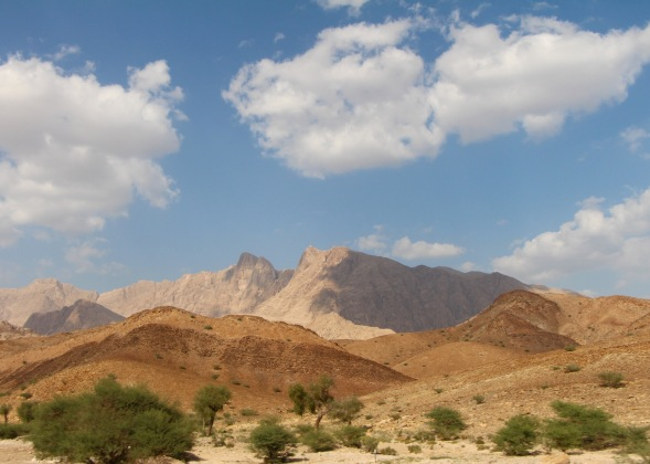 Hajar mountain range, near Ibri, Oman...