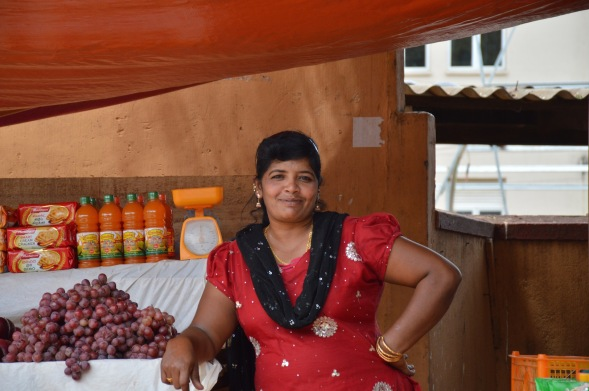 A face of Trincomalee, beautifully composed in red....