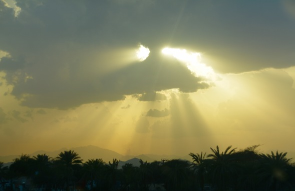 After storms,on the east coast UAE....
