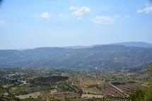 And the beautiful view...over the foothills of Troodos......