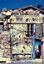 Funky gates at Lemba art college...