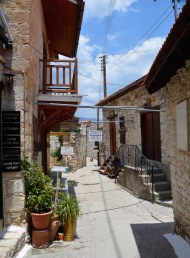Narrow village streets....