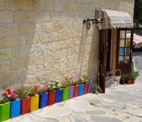 Colourful use of everyday items...