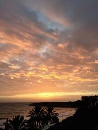 Am apricot sunset at Coral Bay....