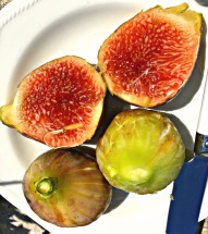 Breakfast figs from my tree...
