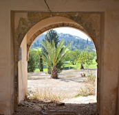 Through the arch...