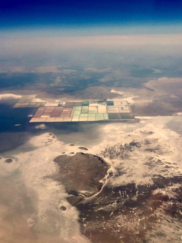 Salt pans in the Great Rann of Kutch, Northern India...